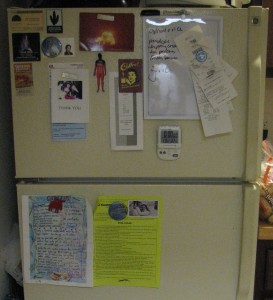 The outside of our fridge